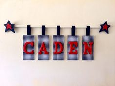 Custom Hanging Wooden Letters with RodName by LettersbyJill, $80.00