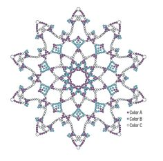 Netted snowflakes f4