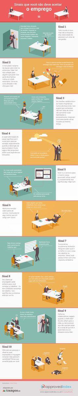 Infográfico: sinais de que você não deve aceitar o emprego