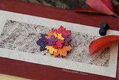Купить Брошь из полимерной глины Краски осени (осенний лист, кленовые листья) - брошь лист