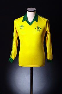 Classic Chelsea away shirt, as seen on Vintage Football Shirts