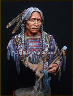>> Click to Buy << Scale Models  1/10 Chief of Sioux Indianbust 1/10   figure Historical WWII Resin Model Free Shipping #Affiliate