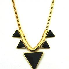 USD2.99Fashion Black Metal Necklace