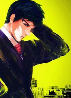 Hey, is it just me or is Amon quite attractive too? I mean, look at the eyebrows. Amon Koutarou, Amon Tokyo Ghoul, Ayato Kirishima, Manga Anime, Anime Nerd, Kendo, Kaneki, Horror, Anime Stuff