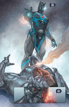 DC Metal Batman the murder machine, Cyborg