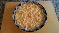 Torta di mele con il piatto crisp del microonde