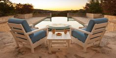Polywood Harbour Deep Seating Outdoor Furniture | Weatherproof Chairs, Loveseats, Sofas & Tables