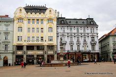 Hlavné námestie Bratislava, Nova, Louvre, Street View, Building, Travel, Viajes, Buildings, Destinations