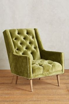 Slub Velvet Booker Armchair, Wilcox - anthropologie.com #anthrofave