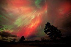 Northern Lights over Lake Superior