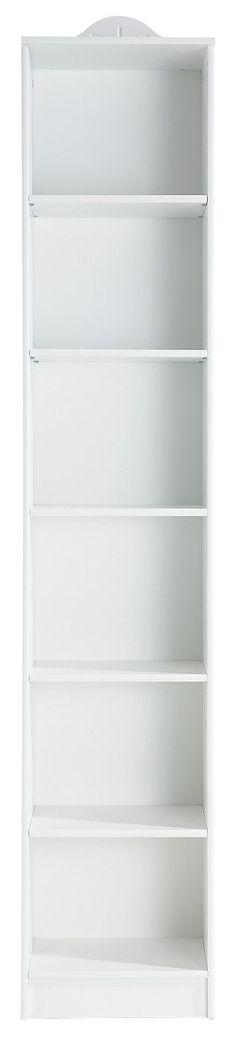 Praktisches Regal »Lasse« mit viel Stauraum im klassischen Landhaus-Stil aus FSC®-zertifiziertem, massivem Kiefernholz. Das 210 cm hohe Regal hat 5 Einlegeböden, davon ist einer fest und 4 verstellbar. Wählen Sie aus zwei Breiten und drei Farben aus und kombinieren Sie das Regal »Lasse« mit den anderen Produkten dieser Serie. Sie können unter der Artikelnummer 305601 passende Türen bestellen.  ...