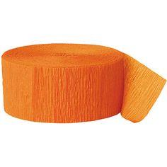 Crepe Paper Orange Party Streamer, 81'