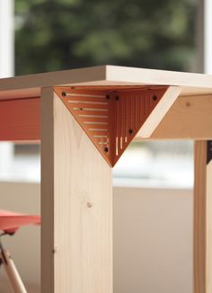 """One popular piece from the NOSIGNER's Open Source line is the """"corner module,"""" a steel plate  made to support desks, shelves, and hanging la..."""