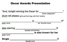 And The Oscar Goes To.... - Design Dazzle