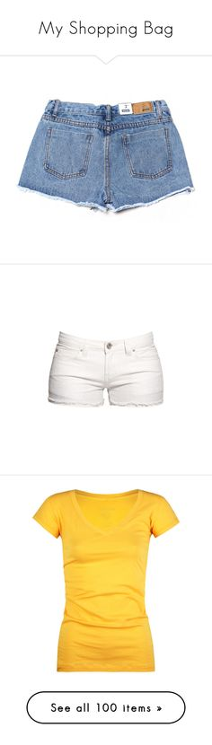 """My Shopping Bag"" by trillest-queen ❤ liked on Polyvore featuring shorts, bottoms, pants, denim, ripped shorts, destroyed jean shorts, cut-off jean shorts, embroidered denim shorts, mini shorts and short"