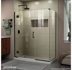 "View the DreamLine E1240634 Unidoor-X 72"" High x 36"" Wide x 34-3/8"" Deep Hinged Frameless Shower Enclosure with Clear Glass at Build.com. $882"