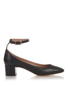 Chloé Ankle-strap snakeskin pumps
