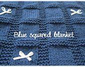 Blue squared blanket
