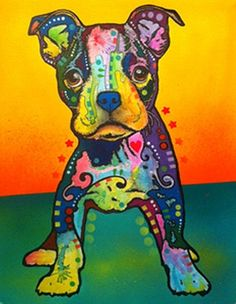 """""""On My Own"""" Pit Bull Print by Dean Russo. #pitbull #dogparkpublishing #deanrusso http://www.dogparkpublishing.com/product_info.php/perceptive-pit-bull-print-p-492"""