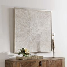 Mesmerize Hand Painted Canvas | Uttermost Hand Painted Canvas, Canvas Frame, Canvas Wall Art, Silver Highlights, Texture Art, Abstract Wall Art, Wall Decor, Accent Furniture, Clocks