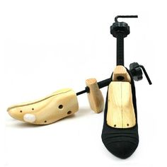 Features:  	1.High Quality Wooden 2 Way Shoe Stretchers 	2.Plastic and metal crank 	3.Each complete with two pressure relief plugs 	4.It can increase both the length and the width of the shoe for about 0.5~1cm 	5.Relieve pain caused by uncomfortable shoes 	6.Can be adjusted to fit left and right shoes,different shoes can be used.    	  7.Stretches shoes lengthways and widthways    	  8.Pressure relief plugs are included for reshaping the tight area    	  9.Easy handling, simply insert the…