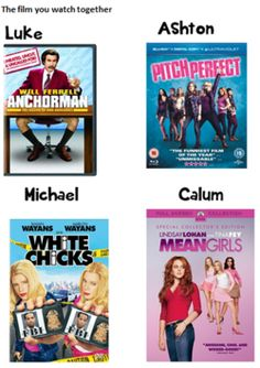 The facts that I watched white chicks yesterday guys Michael Clifford and I are meant to be and like he's my everything.