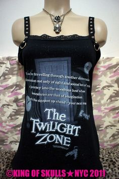 SALE The Twilight Zone DIY Tshirt Altered to by kingofskulls - StyleSays