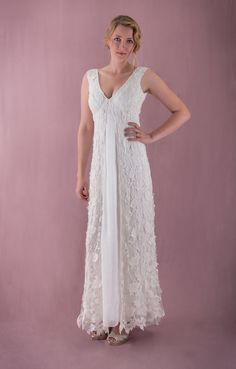 Vintage style lace wedding dress by MartinMcCreaCouture on Etsy