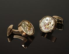 Functional Clock Gear Cufflinks - CuffLinked.com.au