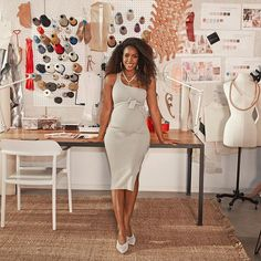 """Checking """"become a fashion designer"""" off my bucket list! Become A Fashion Designer, Kelly Rowland, My Design, How To Become, Bucket, White Dress, Chocolate, Collection, Instagram Posts"""
