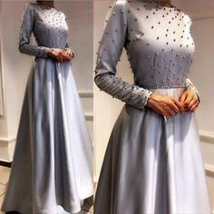 Long grey Dress with Beaded for Women Prom Dress cg12922
