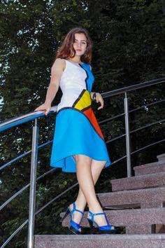 Сукня в стилі колор-блокінг | BurdaStyle.ua: Мода, Дизайн, Рукоділля, Викрійки