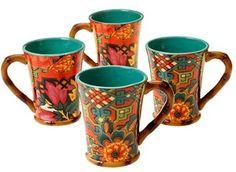 Colorful mugs.