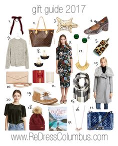 """""""gift guide 2017"""" by redress on Polyvore featuring Louis Vuitton, Rebecca Minkoff, Gorjana, Kate Spade, Shashi, Club Monaco, Penguin Random House, Barbour, Hat Attack and Alice + Olivia"""