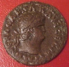 Emperor Nero (54-68 A.D.) - copper As coin.