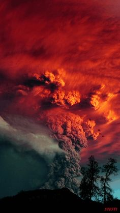 Volcano gif click see eruption