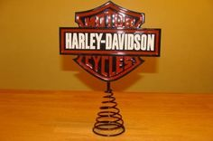 Harley Davidson Christmas Tree Topper. I have this!!  Got this for my hubby last year and it looks great on top of our tree!  PH