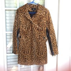 Leopard Coat Super cute! Great for fall and winter. Perfect condition! Size 6  H&M Jackets & Coats Trench Coats