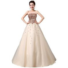Partiss Women's Sequin Lace Tube Wedding Dress, M, Champagne Fancy Dress Store http://www.amazon.com/dp/B00VRN74Q2/ref=cm_sw_r_pi_dp_rbkjvb1C7YX6N