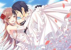 Kirito and Asuna's Wedding by flower8244 on @DeviantArt