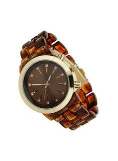 Tortoise Strap Watch - Watches  - Accessories