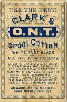 Clark's O.N.T. Spool Cotton