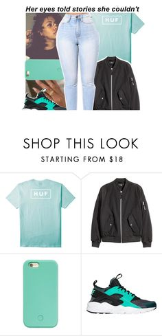 """""""huf.💙"""" by purplequeen04 ❤ liked on Polyvore featuring HUF, Forever 21 and NIKE"""