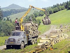 Classic Trucks, Classic Cars, Timber Logs, Central Europe, Cool Trucks, Czech Republic, Motor Car, Cars And Motorcycles, Techno
