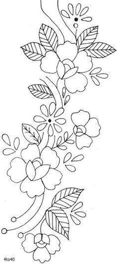 Marvelous Crewel Embroidery Long Short Soft Shading In Colors Ideas. Enchanting Crewel Embroidery Long Short Soft Shading In Colors Ideas. Mexican Embroidery, Crewel Embroidery Kits, Embroidery Needles, Hand Embroidery Patterns, Ribbon Embroidery, Textile Patterns, Flower Patterns, Machine Embroidery, Beginner Embroidery