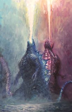 Legendary and Shin Godzilla art All Godzilla Monsters, Godzilla Comics, Godzilla Godzilla, King Kong, ゴジラ Final Wars, Monster Uni, Godzilla Wallpaper, Legendary Monsters, Classic Monsters