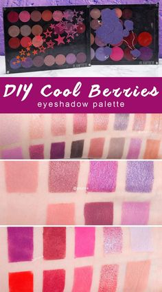 DIY Cool Berries Eyeshadow Palette - Tired of all the warm eyeshadow palettes out there? Make your own cool berries palette with my suggestions! How To Do Eyeshadow, Eyeshadow For Blue Eyes, Eyeshadow Tips, Eyeshadows, Warm Eyeshadow Palette, Cruelty Free Beauty Reviews, Pretty Nail Designs, Cruelty Free Makeup, Makeup Swatches