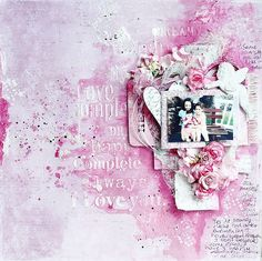 Just My Scrapping World.. : One more for May for Maja Design and Manor House Creations, Nadia Cannizzo, mixed media layout