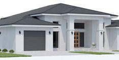 Bedroom House Plans, Dream House Plans, Modern House Plans, Small House Plans, Bungalow Haus Design, Modern Bungalow House, Modern Mansion, The Plan, Concrete Patios