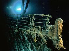 Titanic Today - Titanic - A Night To Remember Titanic Wreck, Rms Titanic, Titanic Photos, Titanic Today, Titanic Artifacts, Titanic History, Ancient History, Underwater Images, Haunting Photos